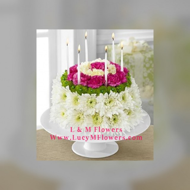 Birthday Flower Cake Birthday Flower Cake L M Flowers