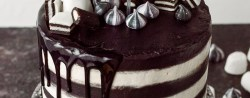 Black And White Birthday Cake Monochrome Cake Domestic Gothess
