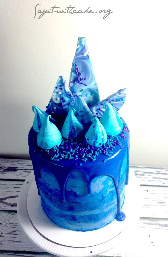 Blue Birthday Cake Blue Birthday Cake Sweet Dreams Pinterest Blue Birthday Cakes