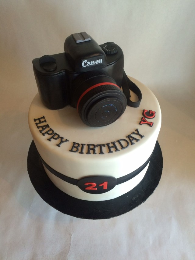 Camera Birthday Cake Custom Cake Birthday Cake Custom Topper Canon Camera