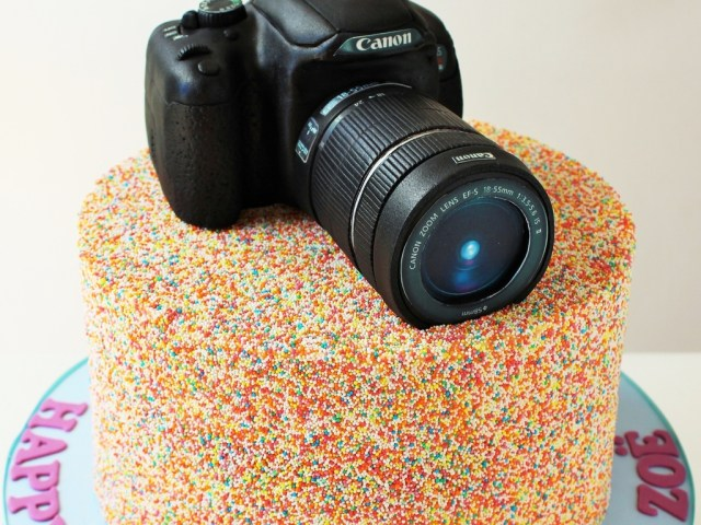 Camera Birthday Cake Had So Much Fun Creating This Sprinkles Camera Birthday Cake Camera