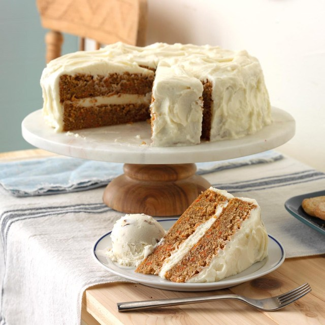 Carrot Cake Birthday Cake Old Fashioned Carrot Cake With Cream Cheese Frosting Recipe Taste