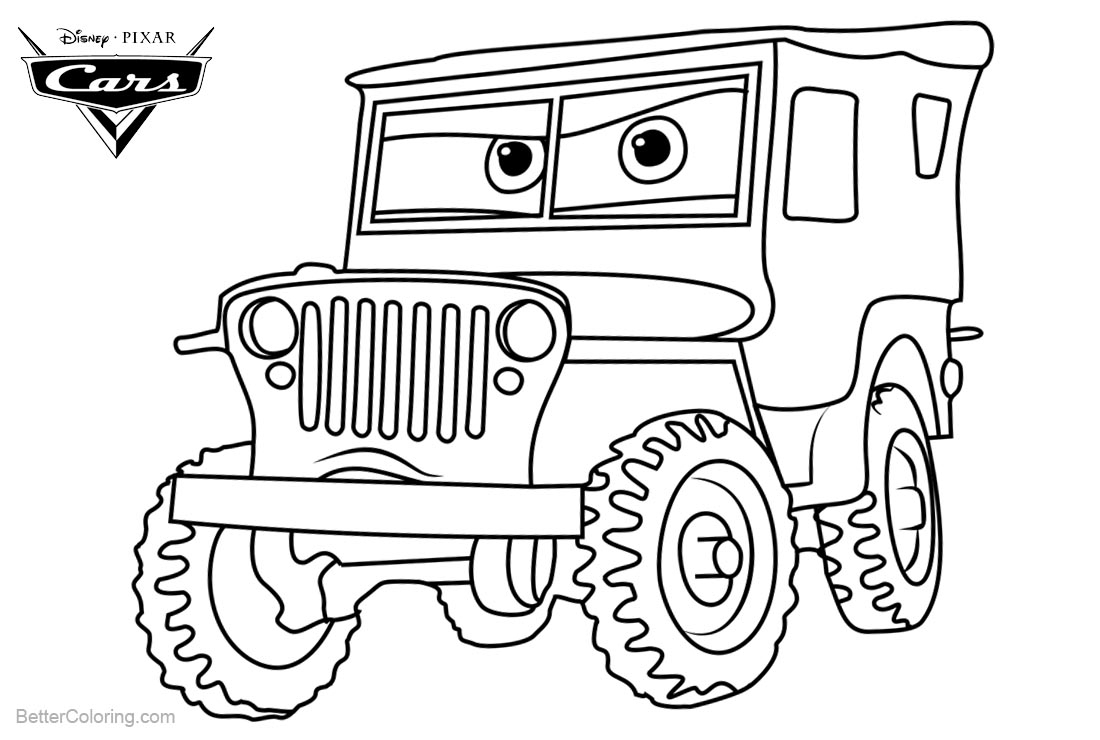 Cars 3 Coloring Pages Cars 3 Pixar Coloring Pages Sarge Free