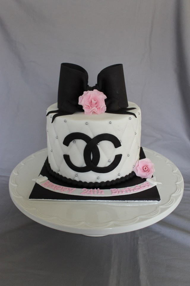 Chanel Birthday Cake Chanel Birthday Cake Chanel Cakes Pinterest Cake Chanel