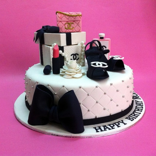 Chanel Birthday Cake Chanel Gift Sets Birthday Cakes Cakecentral