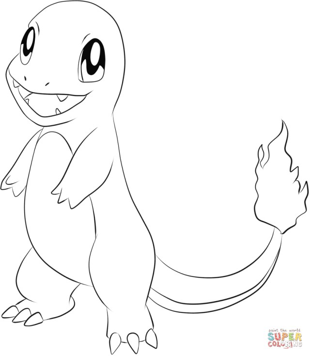 Charmander Coloring Page Charmander Coloring Page Free Printable Coloring Pages