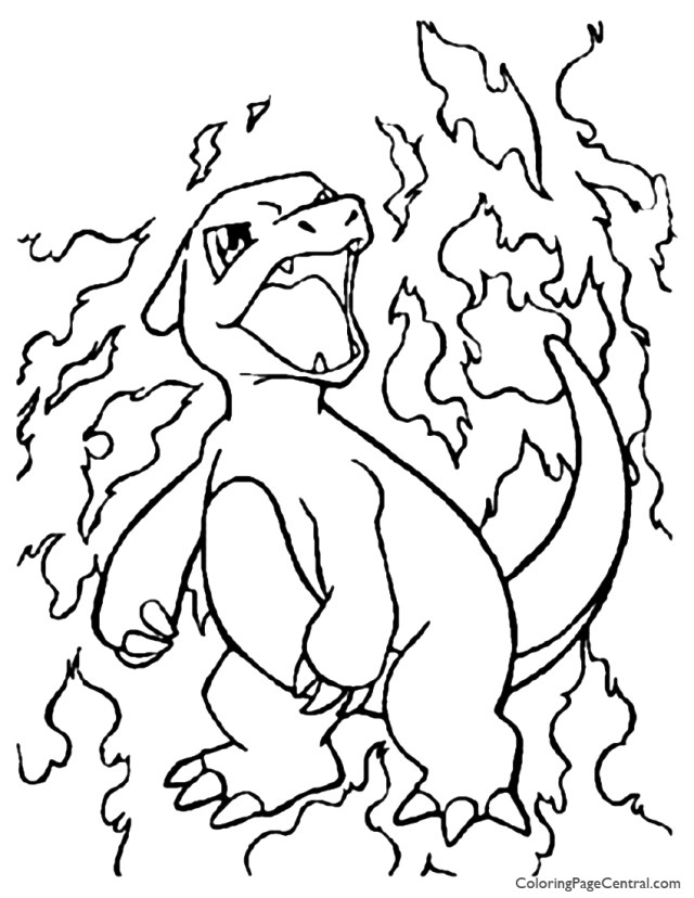 Charmander Coloring Page Pokemon Charmander Coloring Pages