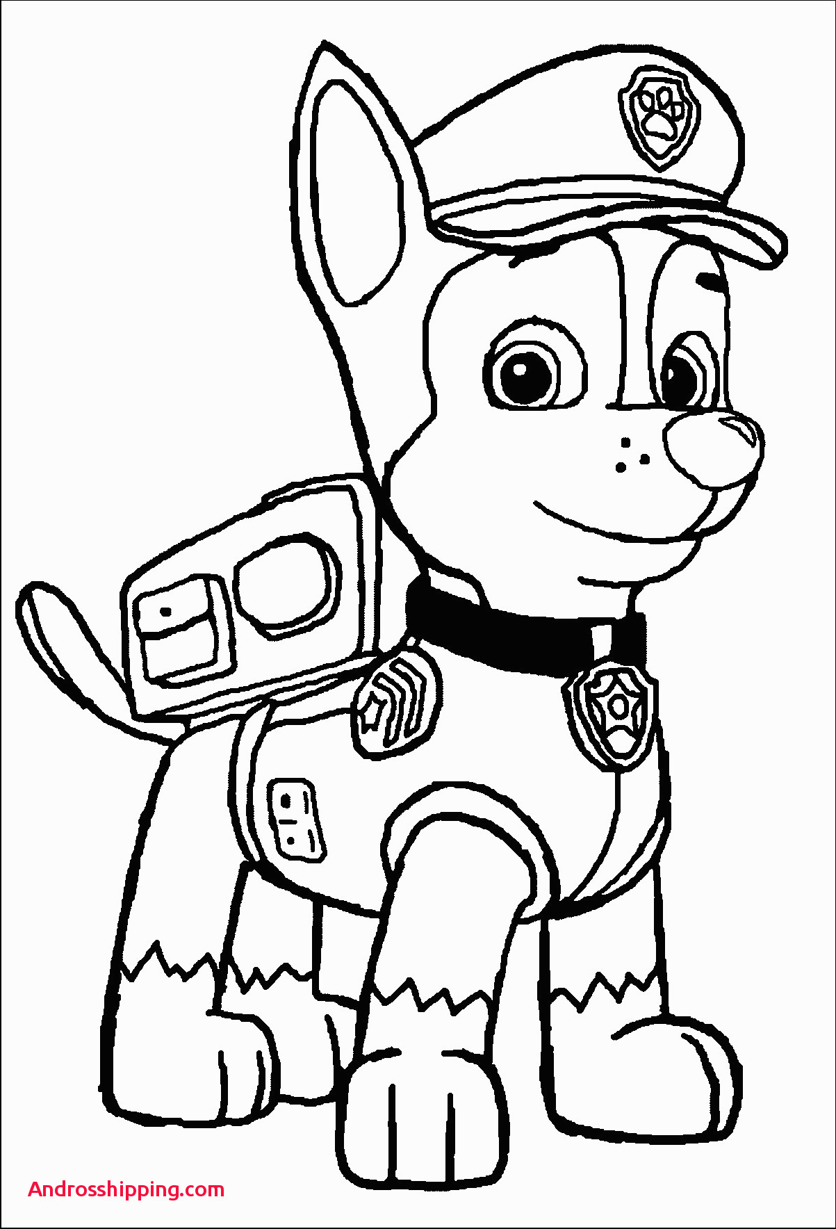 25 Excellent Picture Of Chase Paw Patrol Coloring Page