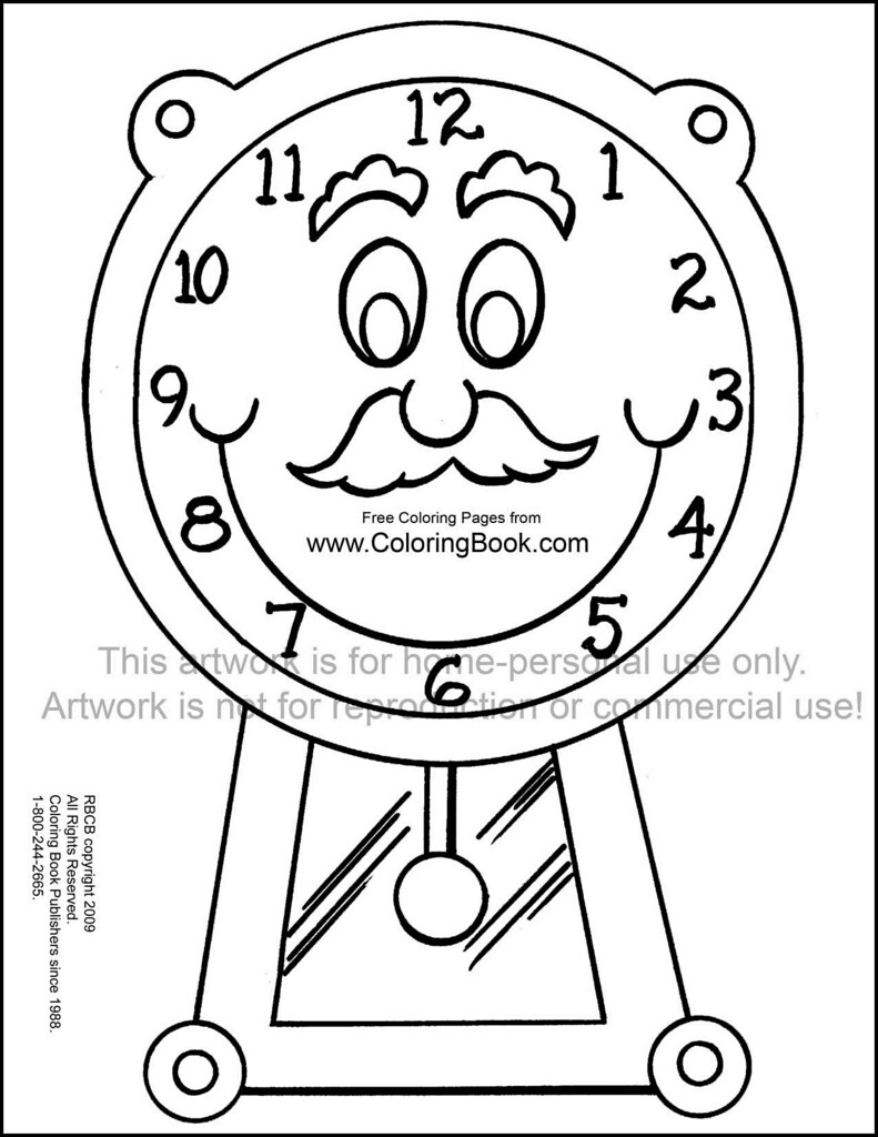 Clock Coloring Page Grandfather Clock Free Coloring Page Wayne Bell