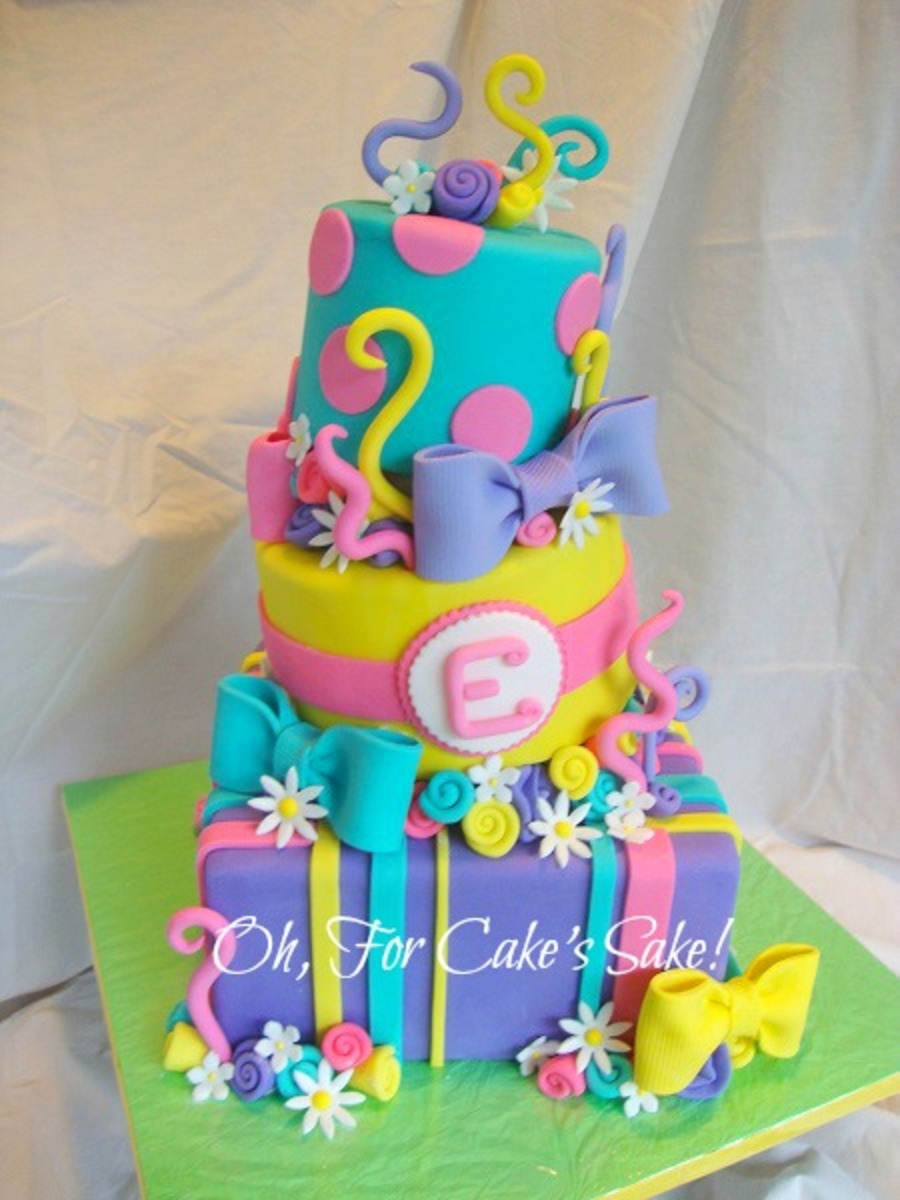 Colorful Birthday Cakes Bright Colorful Birthday Cake Cakecentral ...