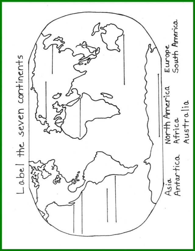 Continents Coloring Page 7 Continents Coloring Page Wiim Coloring Page