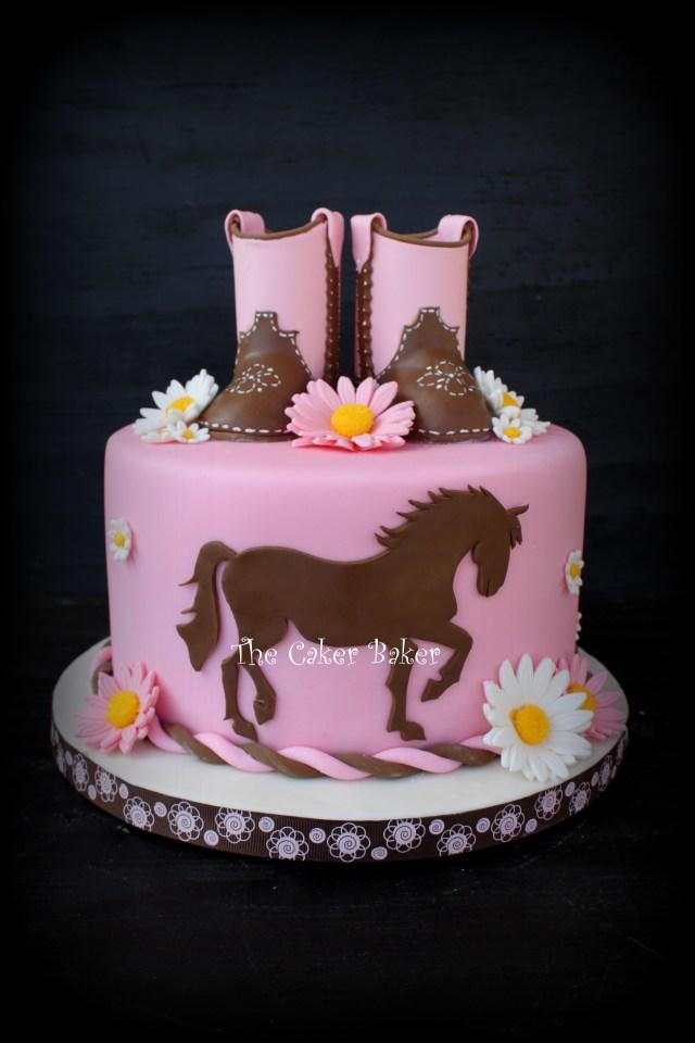 Cowgirl Birthday Cake Ohne Stiefel Pferde Torten In 2018 Pinterest Cake Cowgirl