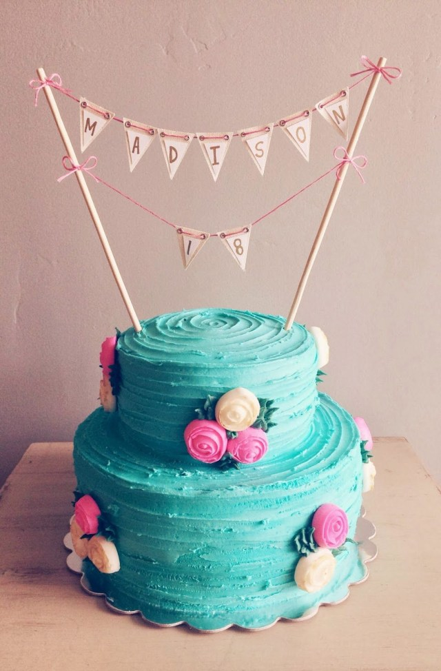 Cute Birthday Cakes 18th Birthday Cake On 2sweetsblogspot My Style Pinterest