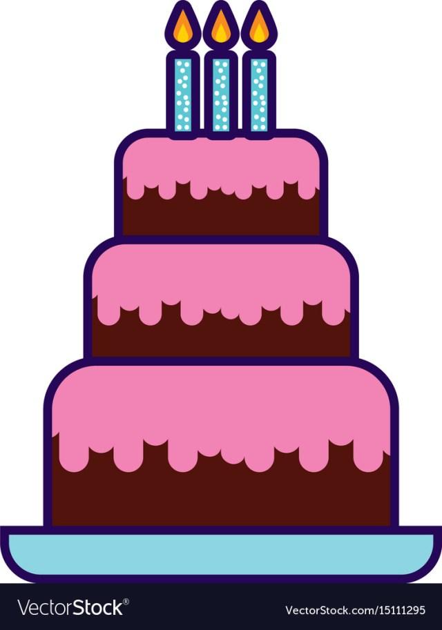 Cute Birthday Cakes Cute Birthday Cake Cartoon Royalty Free Vector Image