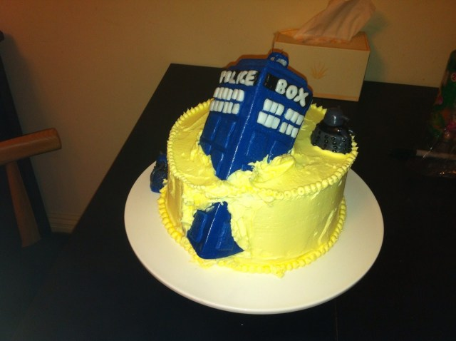 Doctor Who Birthday Cake Vanilla Gorilla Doctor Who Cake