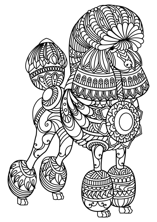 Dog Coloring Pages For Adults Dog Coloring Book For Adults N2gu Free Book Dog Poodle Dogs Adult