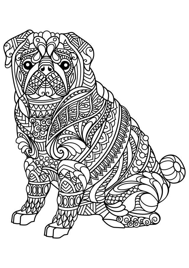 Dog Coloring Pages For Adults Free Book Dog Bulldog Dogs Adult Coloring Pages