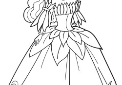 Dress Coloring Pages Princess In Flower Dress Coloring Page Free Printable Coloring Pages