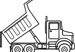 Dump Truck Coloring Pages Scripted Dump Truck Coloring Page Wecoloringpage