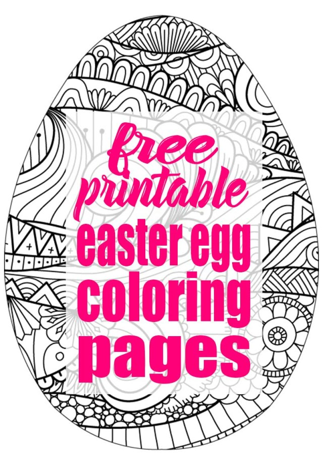 Easter Egg Coloring Page Easter Egg Coloring Pages A Free Printable The Bold Abode