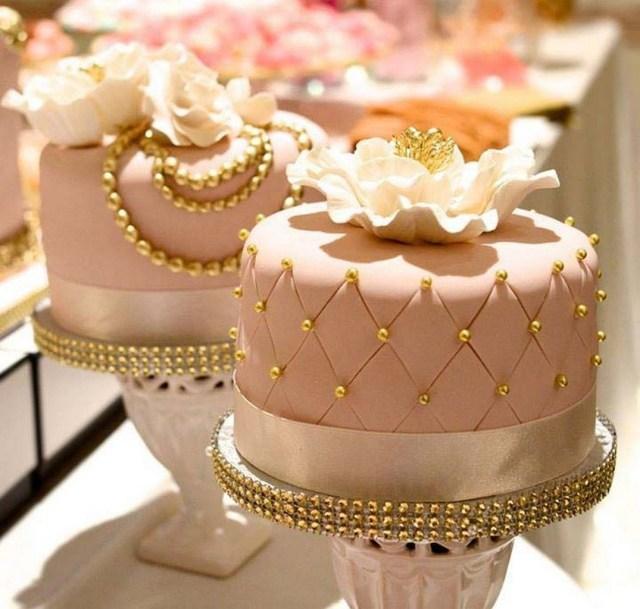 Elegant Birthday Cakes Vintage Pink Gold Pearls Elegant Cakes The Bake Life Cake Mini