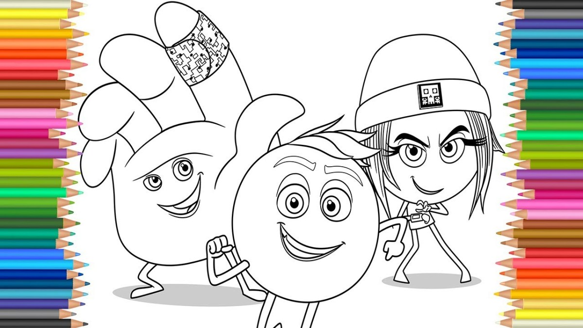 Emoji Movie Coloring Pages The Emoji Movie 2017 Coloring Pages L