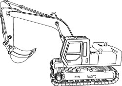 Excavator Coloring Page Excavator Coloring Page Disney Coloring Pages