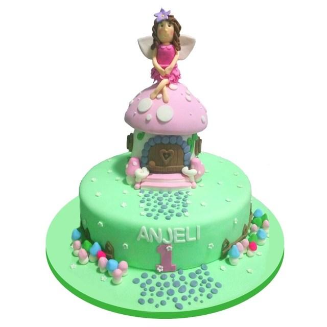 Fairy Birthday Cake Fairy House Birthday Cake