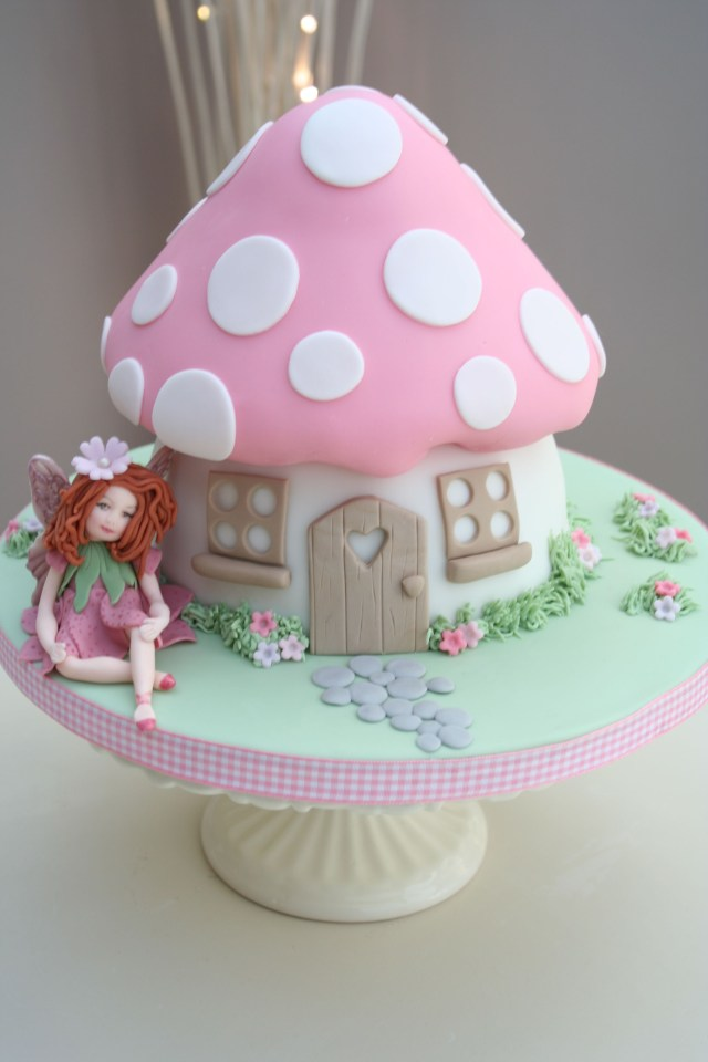 Fairy Birthday Cake Toadstool Part Of Our Enchanted Garden Range