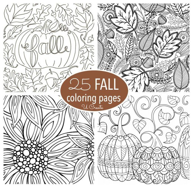 Fall Coloring Pages For Adults Free Fall Adult Coloring Pages U Create