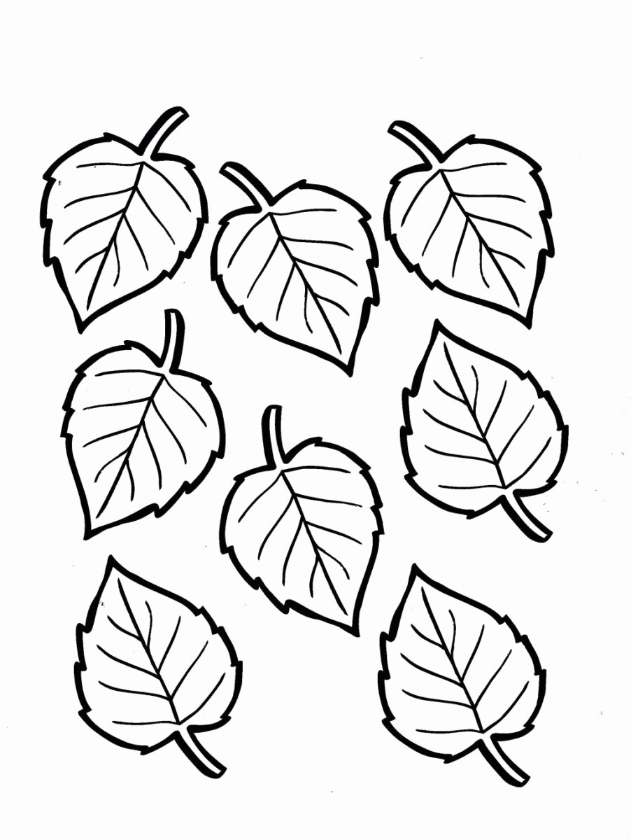 Fall Leaves Coloring Pages Fall Leaves Coloring Pages For ...