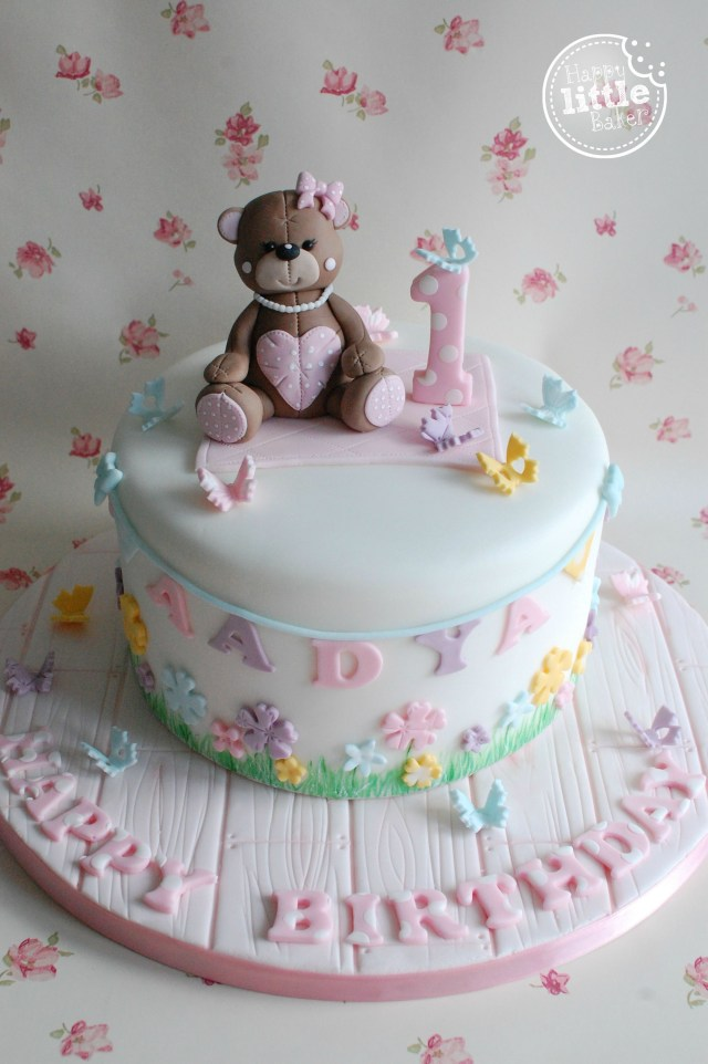 First Birthday Cake Ideas Teddy Bear Themed First Birthday Cake Child Cake Cake Birthday