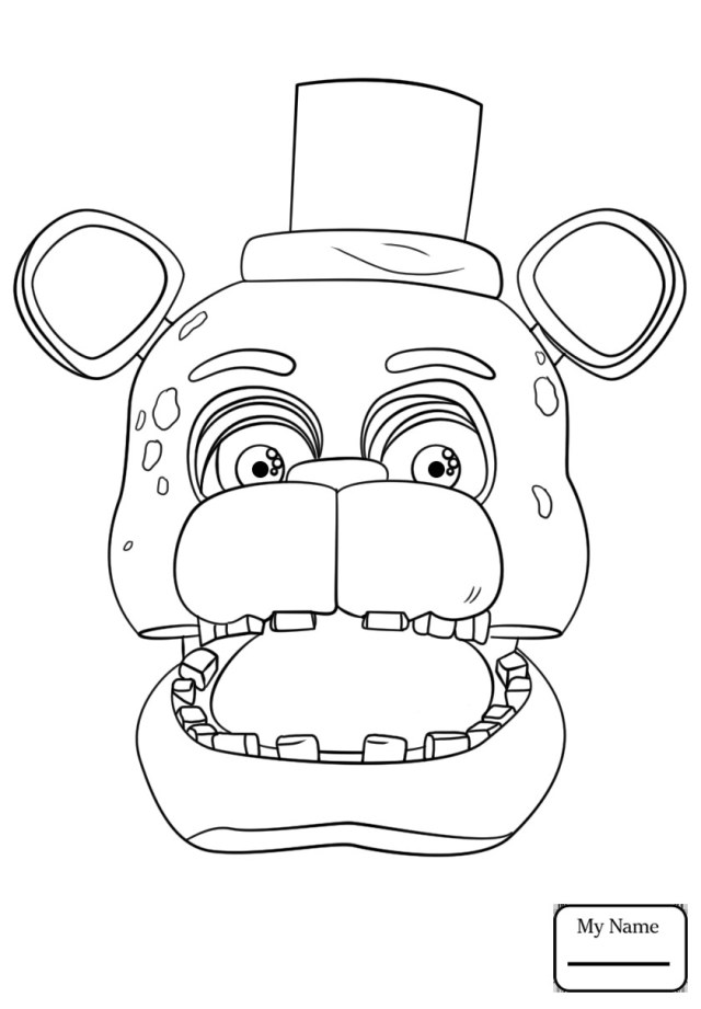 Five Nights At Freddy's Coloring Pages Five Nights At Freddy Coloring Pages Beautiful Freddy Coloring Pages