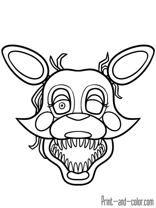 Five Nights At Freddy's Coloring Pages Five Nights At Freddys Coloring Pages Print And Color