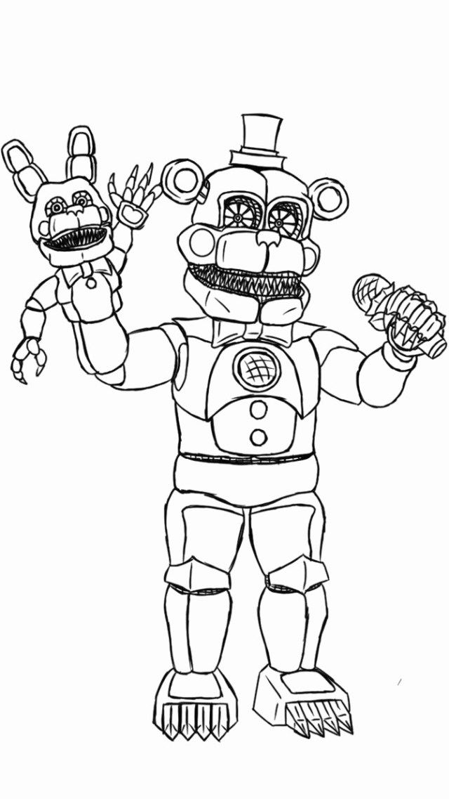 Five Nights At Freddy's Coloring Pages Fnaf Coloring Pages Astonishing Five Night Freddy Coloring Page