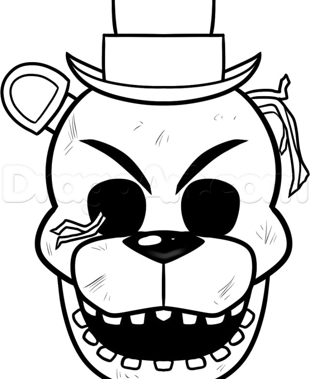 Five Nights At Freddy's Coloring Pages Print Fnaf Freddy Five Nights At Freddys Coloringages Toy Chica