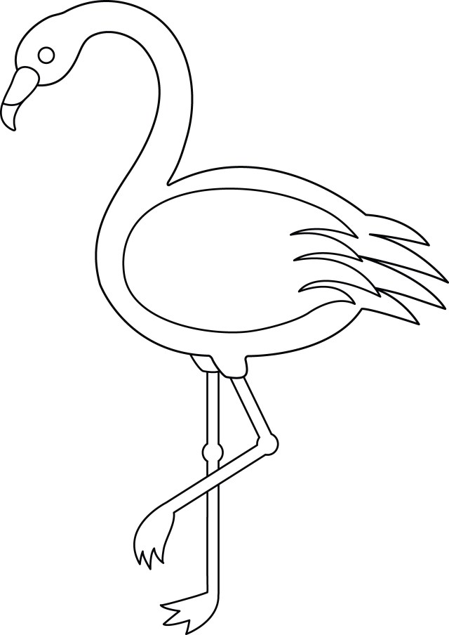 Flamingo Coloring Pages Cute Flamingo Coloring Pages Futurama