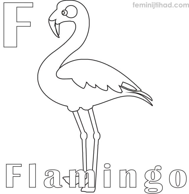 Flamingo Coloring Pages Flamingo Coloring Pages Of 5 Futurama