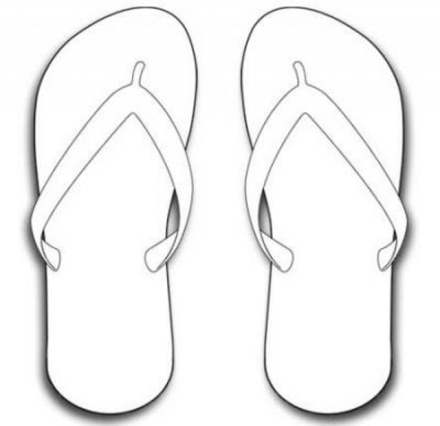Flip Flop Coloring Pages Flip Flop Coloring Pages Page Printable With Connect360 Me For Best