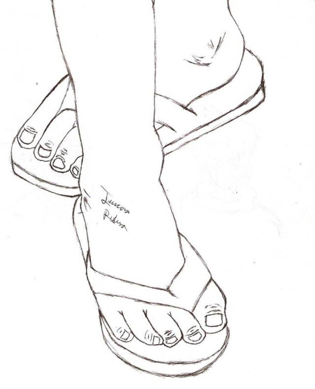 Flip Flop Coloring Pages Flipflop Drawing At Getdrawings Free For Personal Use Flipflop