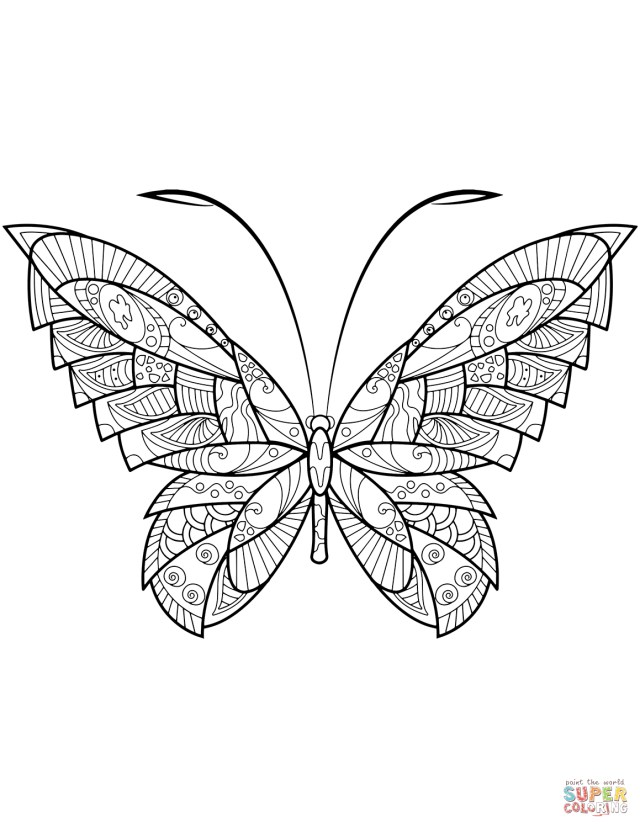 Free Butterfly Coloring Pages Butterfly Coloring Pages Free Coloring Pages