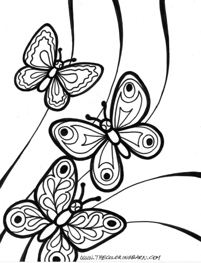 Free Butterfly Coloring Pages Butterfly Coloring Pages Free Download Xsibe At Bitslice