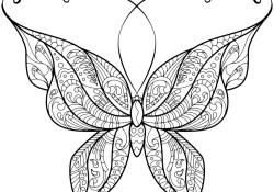 Free Butterfly Coloring Pages Coloring Page Butterfly Coloring Pages Free Zentangle Page 41