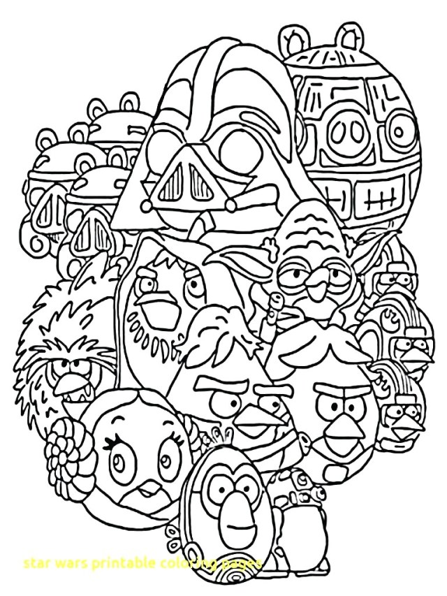 Free Star Wars Coloring Pages Angry Bird Star Wars Coloring Pages 2 G Printable Free Lego