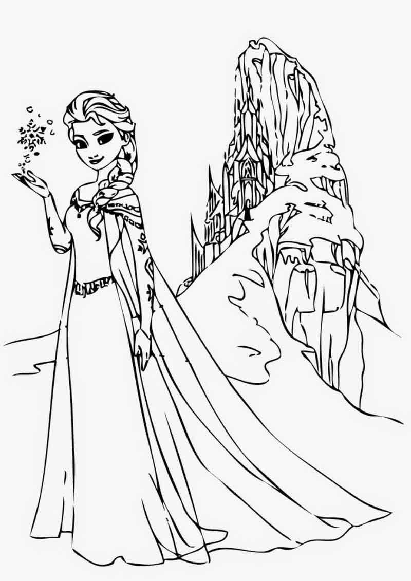 Frozen Elsa Coloring Pages Frozen Elsa Coloring Page Printable Coloring Sheets