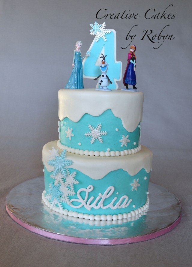 Frozen Themed Birthday Cake Childrens Birthday Cakes Created For A Frozen Themed Birthday