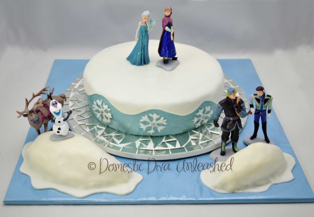 Frozen Themed Birthday Cake Frozen Birthday Cake Domestic Diva Unleashed