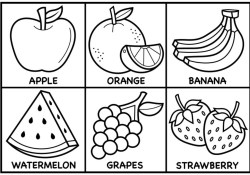 Fruit Coloring Pages How To Draw Fruit For Kids Fruit Drawings For Kids