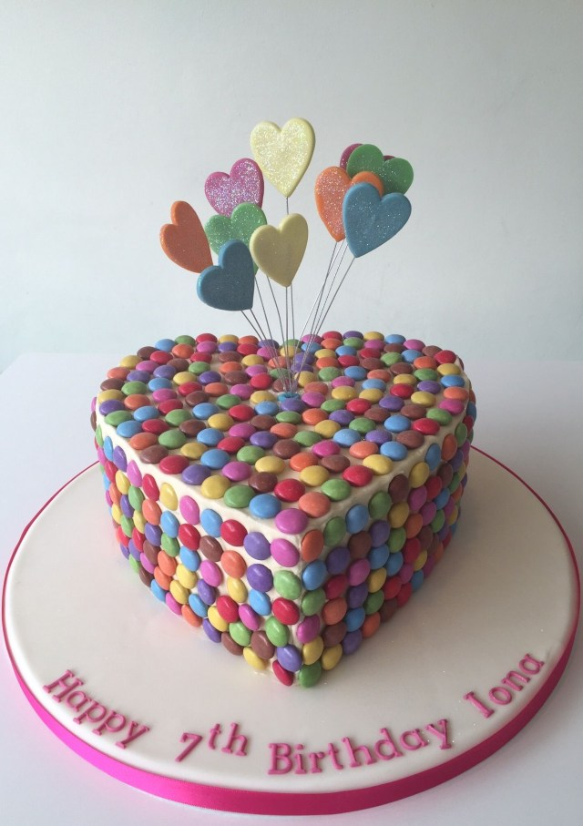 Girly Birthday Cakes Heart Shaped Girly Birthday Cake With Smarties And Starburst