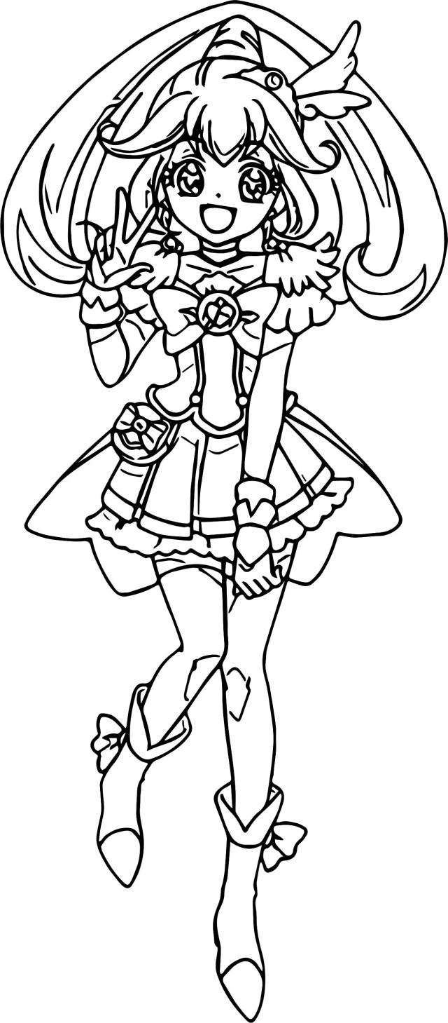 Glitter Force Coloring Pages Cure Peace Glitter Force Coloring Page Wecoloringpage
